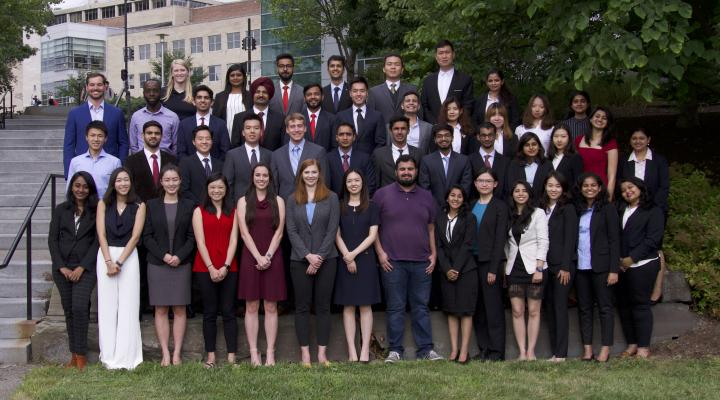 engineering management students class photo