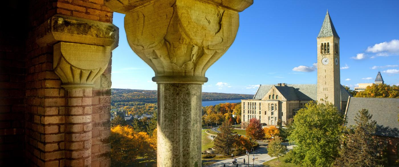 image of Cornell tower on a sunny day